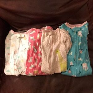 Other - Footed Pajama Bundle 12 month
